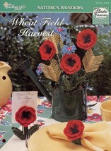 Wheat Field Harvest Poppy Cornflower Plastic Canvas Pattern/Instructions - $1.14