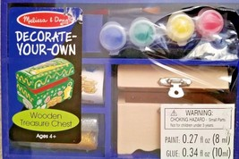 Melissa & Doug Decorate your own Wooden Treasure Chest ages 4+ Craft Kit - $8.81