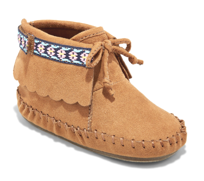 Toddler Girls' Genuine Kids by Oshkosh Tricia Brown Faux Suede Moccasins 4 5