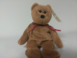 1st Edition TY Beanie Babies Rare Teddy no stamp, PVC and style line - $9.40