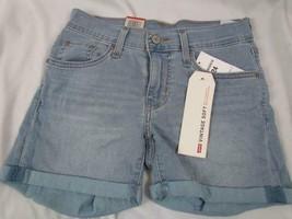 NWT Levi's Mid Length Short Vintage Soft Blue Cuffed 00 W 24 Org $39.50 - $23.74