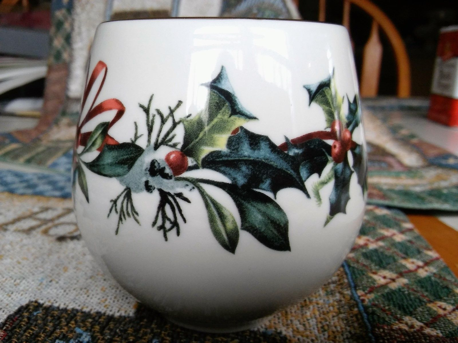 Lenox Candle Holder Winter Greetings Say It With Silk NWOB