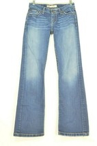 BKE jeans 27 x 31.5 Kate dark slight flare distressing embroidery back p... - $29.69
