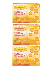 Alacer Emergen-C 1,000mg Vitamin C Fizzy Drink Mix Tangerine 90 Packets ... - $34.95