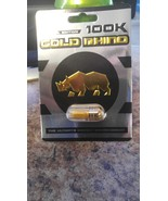 GOLD  Rhino 100 K Pill Premium Male Enhancement special edition (5) pack - $39.99