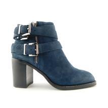 Jeffrey Campbell Size 8 Blue Nubuck 3 Buckle Ankle Boots - $74.00