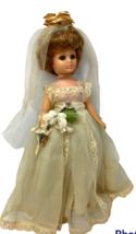 "1950s Vintage Vogue Doll Jill Yellow Bridal Gown Dress 10""  - $79.19"
