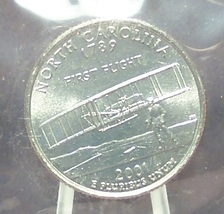 2001-D North Carolina State Quarter MS65 in the Cello #695 - $1.59
