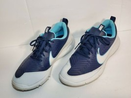 Men's Nike Explorer 2 Golf Shoes 849957 400 SZ 10 Sneakers Navy Pure white - $32.71