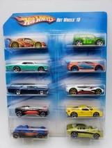 Hot Wheels 10 Car Pack Exclusive BRAND NEW SEALED 2010 Mattel!! - $59.39
