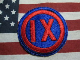 WWII US ARMY IX CORPS 9TH CORPS SSI COLOR PATCH C/E - $6.00