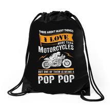 Motorcycles Pop Pop Drawstring Bags - $30.00