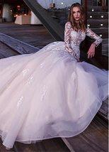 Sexy Long Sleeve Top Lace Appliques  A-Line Bridal Dresses + Plus Sizes image 2