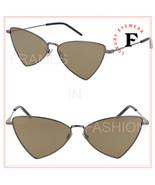 SAINT LAURENT JERRY YSL 303 008 Ruthenium Brown Mirror Angular Sunglasse... - $229.43