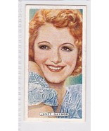 JANET GAYNOR 1935 ARDATH TOBACCO CIGARETTE CARD FILM, STAGE & RADIO STARS - $3.37