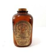Antique Vintage Tobacco Scotch & Rappee Snuff Bottle Levi Garrett & Sons w Cork - $17.50