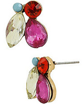 BETSEY JOHNSON ST BARTS STONE CLUSTER STUD EARRINGS NWT - $11.65