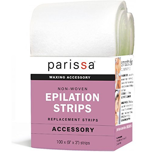 Parissa Epilation Waxing Non-Woven Cloth Strips, Replacement Strips for use with
