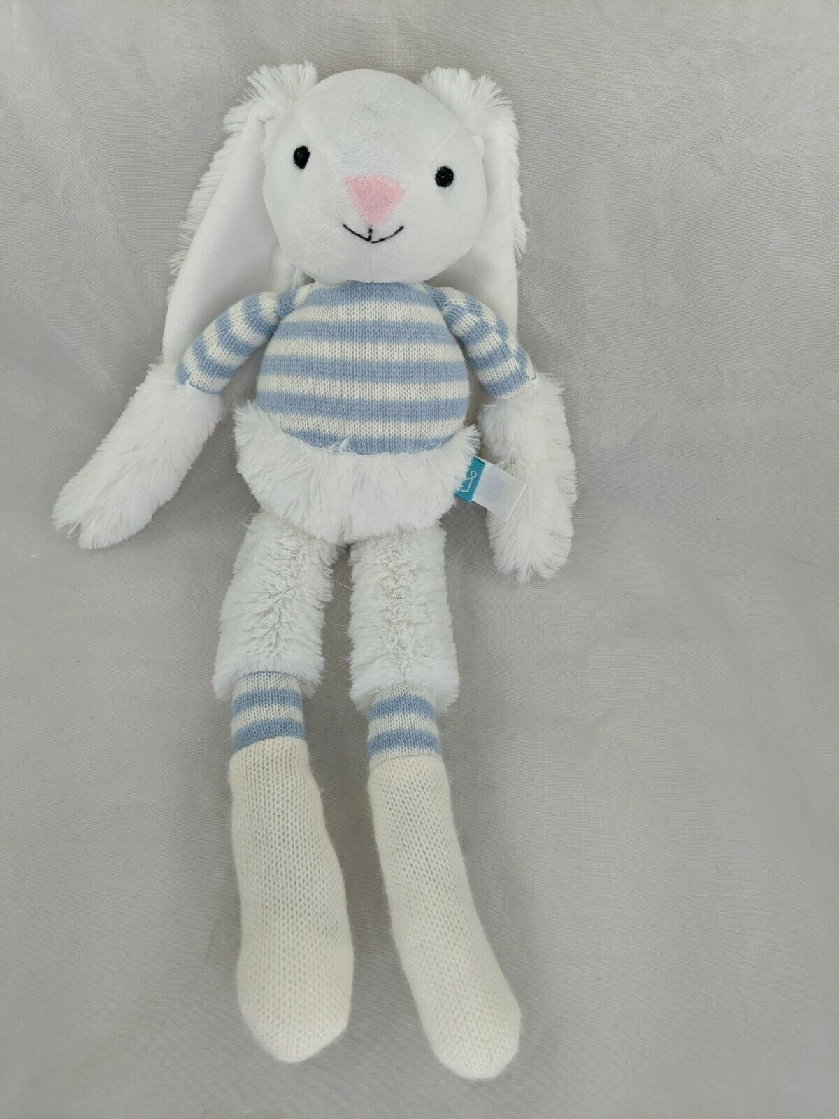 "Primary image for Manhattan Toy Rabbit Plush Twiggies Billy Knit Blue 16"" Stuffed Animal Toy"