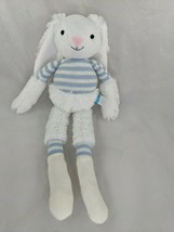 "Manhattan Toy Rabbit Plush Twiggies Billy Knit Blue 16"" Stuffed Animal Toy - $8.95"
