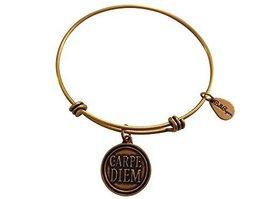 Bella Ryann Carpe Diem Gold Charm Bangle Bracelet
