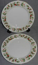 Set (2) Royal Gallery HOLLY PATTERN Dinner Plates JAPAN Holiday - Christmas - $39.59