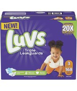 Luvs Triple Leakguards Diapers Size 3, 168 Count - $100.00