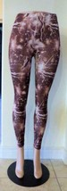 Women's/ Junior's Printed Polyester Leggings, Brown, One Size - $7.57