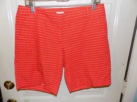 J. Crew Stretch Orange/White Chino Shorts Size 6 Women's EUC - $20.25