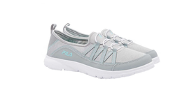 Fila Women's Pilota Memory Foam Breathable Slip On Sneaker, Mint/Grey - $29.99