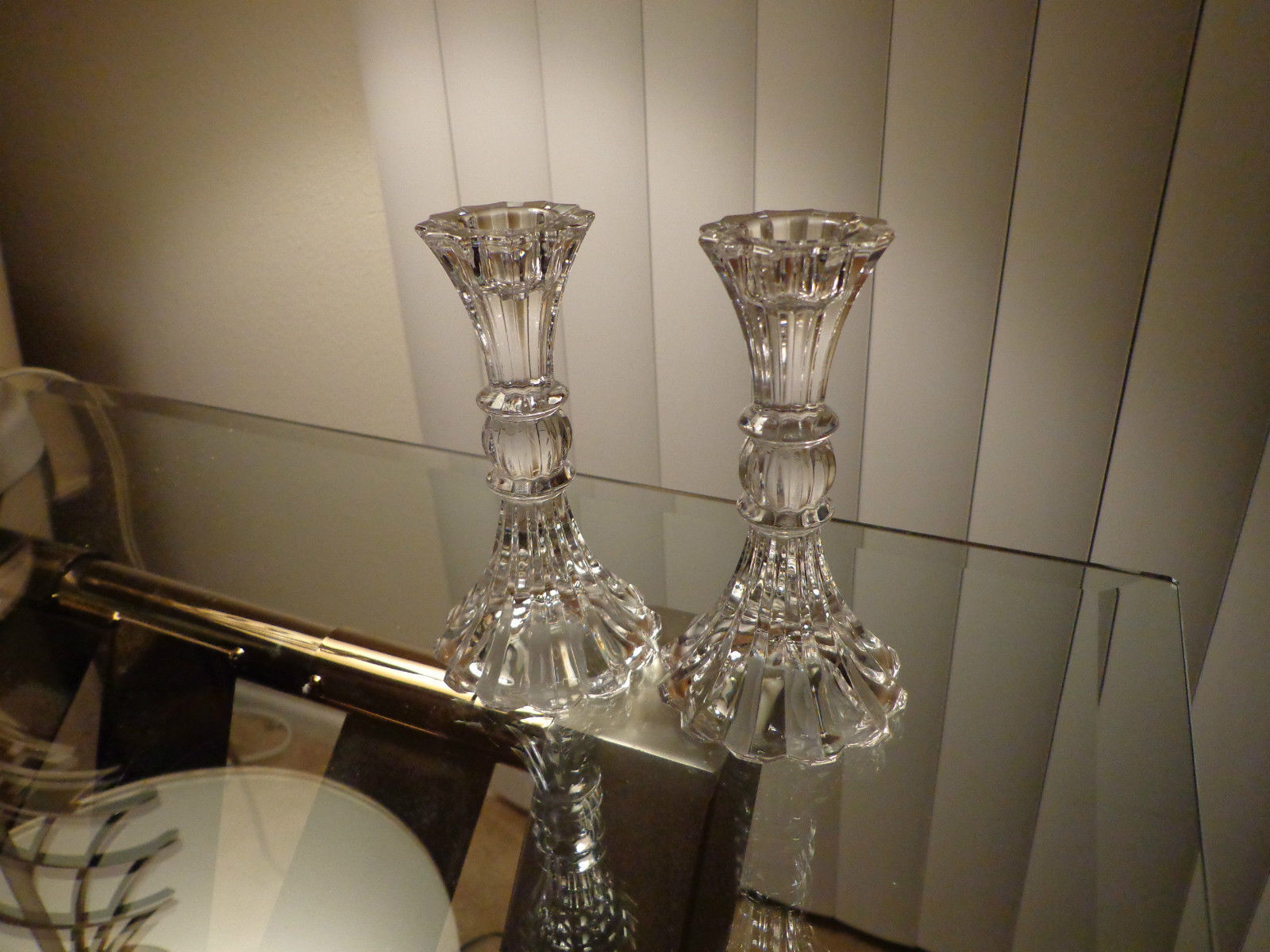 Set of 2 Mikasa Sterling Pattern Candle Holders Retired 1998