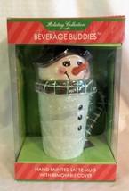 Travel Coffee Mug Sakura Beverage Buddies Snowman NIB - $6.92