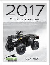 2017 Arctic Cat VLX 700 ATV Service Manual on a CD - $12.99