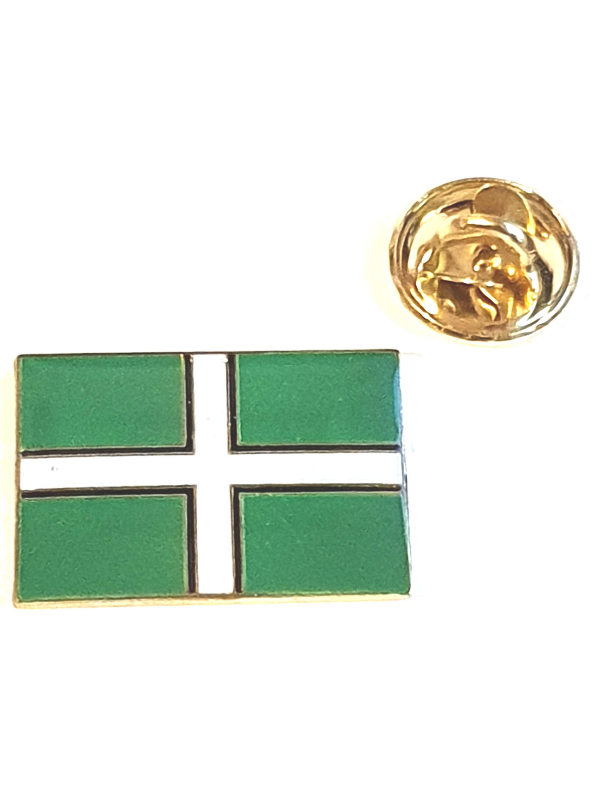 devon, devonshire Flag  lapel pin  handmade in uk from uk made parts, boxed tie,