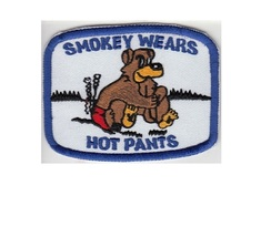Smokey the Bear Smokey Wears Hot Pants Patch blue 3 x 3.75 in   - $9.99