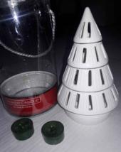 Yankee Candle Tree Luminary Tea Light Candle Holder Set White Ceramic Tr... - $7.91