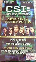 C S I  Crime Scene Investigation Game Plus Booster Pack Brand New Great ... - $12.86