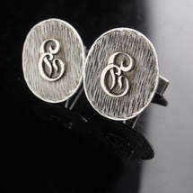 Sterling Monogrammed Cufflinks / Vintage Initial E set / personalized le... - $175.00