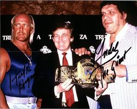 ANDRE THE GIANT & HULK HOGAN  Autographed Hand Signed Photo w/ COA -332 - $165.00
