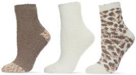 MeMoi stripest Cuddly Crew Socks Womens Size US 9-11 Khaki 3-Pair Pack - $14.53