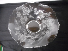 "Heisey Rose Etched 12"" Console Bowl - $49.00"