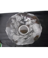 """Heisey Rose Etched 12"""" Console Bowl - $49.00"""