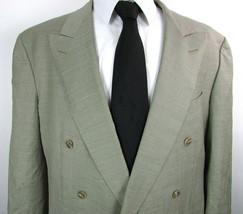 "Light Sage Green Nailshead "" ERMENEGILDO ZEGNA "" Super 100's Wool 45 R J... - $16.89"