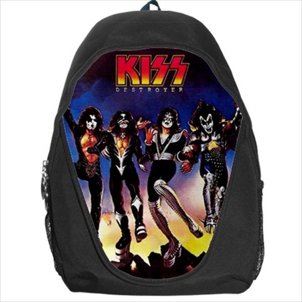 backpack kiss gene simmons rock band groopies hard metal distroyer clown - $39.79