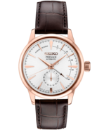 AUTHORIZED DEALER Seiko SSA346 Presage Automatic Brown Leather 40.5mm Watch - $482.63