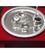 Home decor gift Spritua Antique Silver plated Pooja Puja Thali hinuism - $68.31