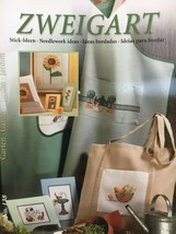 Zweigart's Needlework Ideas Booklet #138 Gardens Cross Stitch Sunflowers... - $9.45