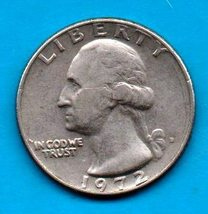 1972 D Washington Quarter - Circulated - Moderate Wear - $1.25