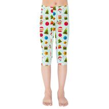 Christmas Emojis Girls Capri Leggings - $35.99+
