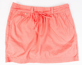 Gap Womens Pink Salmon Color Skirt Side Zip with bow Size 6 - $12.71